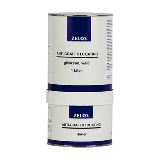 ZELOS ANTI-GRAFFITI COATING glänzend weiß 1L